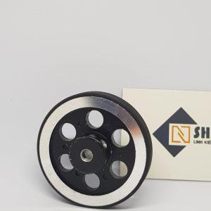 Bánh xe kim loại 65mm - trục 6mm