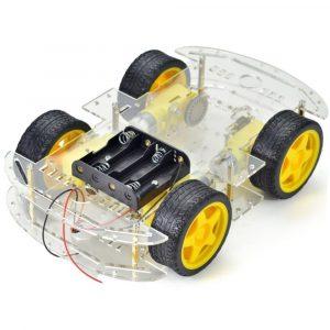 Khung xe robot 2 tầng 4 bánh