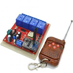 Bộ điều khiển 4 thiết bị từ xa Noulins Wifi + Remote