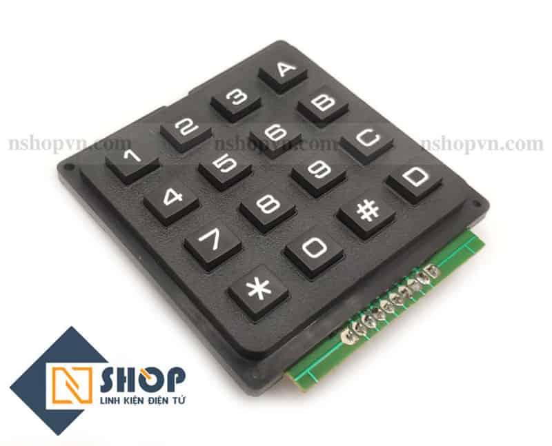 Bàn Phím Ma Trận Nhựa Cứng 4x4 Keypad