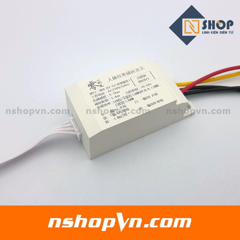 Bộ cảm biến chuyển động, Ánh sáng bật tắt thiết bị 220V-5