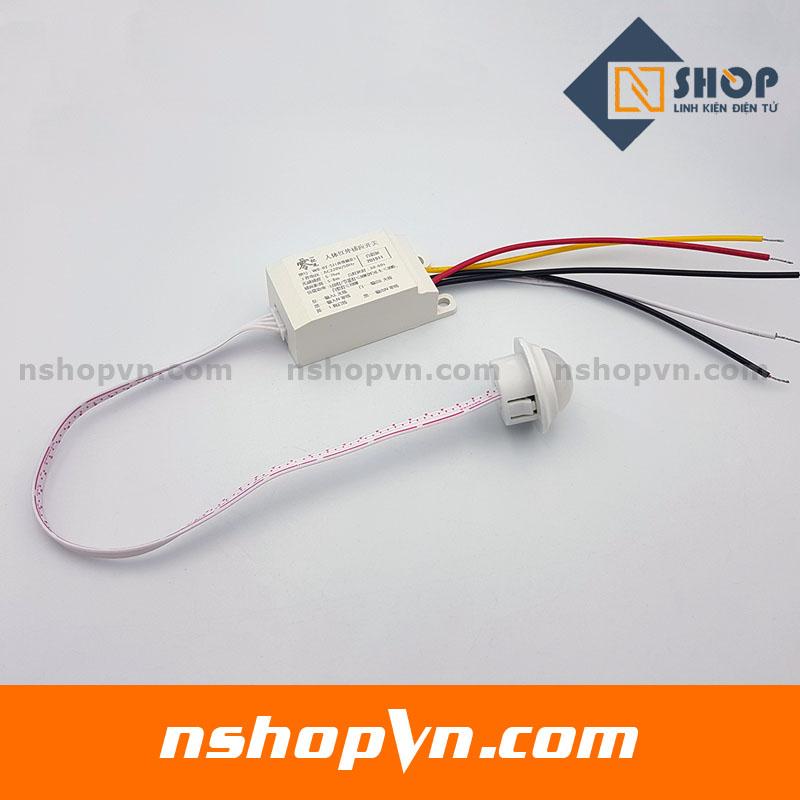 Bộ cảm biến chuyển động, Ánh sáng bật tắt thiết bị 220V-4