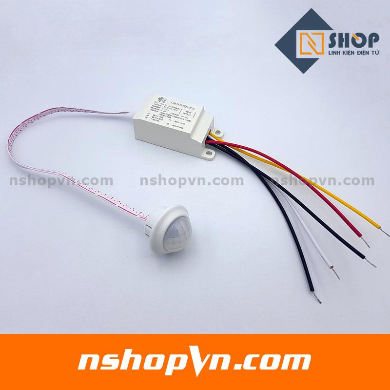 Bộ cảm biến chuyển động, Ánh sáng bật tắt thiết bị 220V-3
