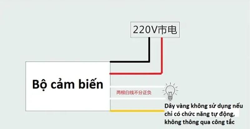 Bộ cảm biến chuyển động, Ánh sáng bật tắt thiết bị 220V-1