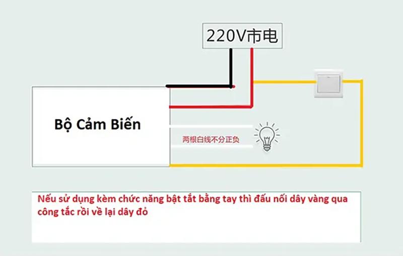 Bộ cảm biến chuyển động, Ánh sáng bật tắt thiết bị 220V-7