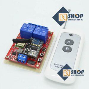 Bộ điều khiển 2 thiết bị từ xa Noulins Wifi + Remote tầm xa
