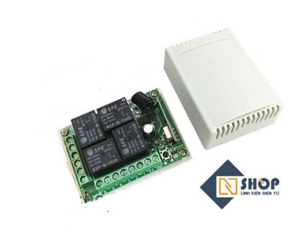 Bộ điều khiển RF 433Mhz 12VDC 4 kênh (Không kèm remote)
