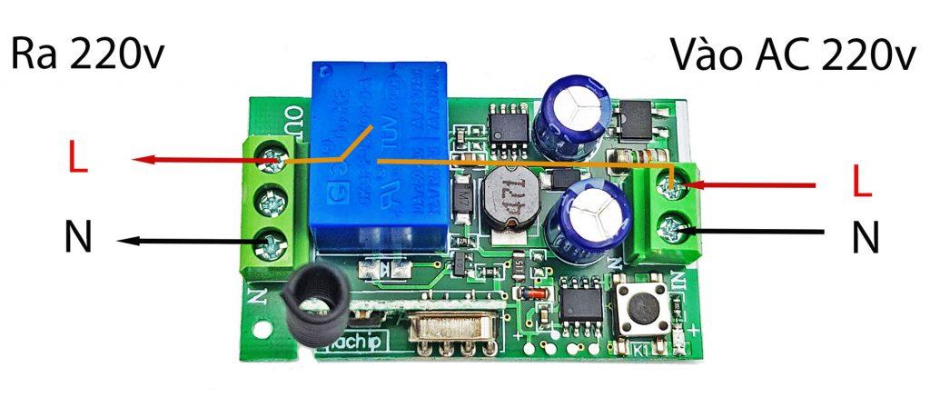 Bộ điều khiển RF 315Mhz 220V 1 kênh (Không kèm remote)