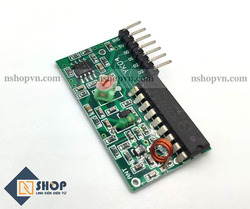 Bộ điều khiển từ xa RF 315Mhz 4 kênh PT2272 - T4