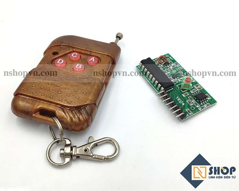 Bộ điều khiển từ xa RF 315Mhz 4 kênh PT2272 - L4