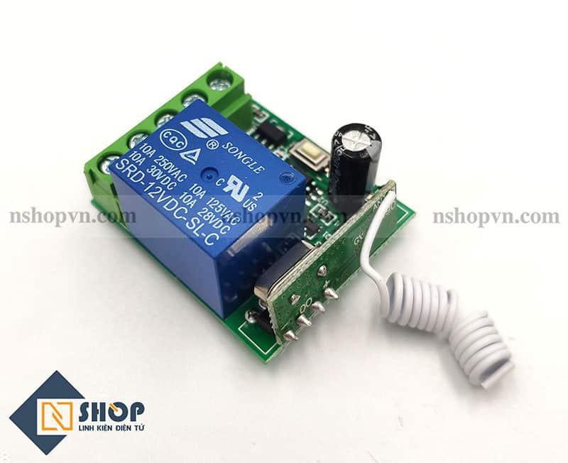 Bộ điều khiển Relay 1 kênh học lệnh 315Mhz