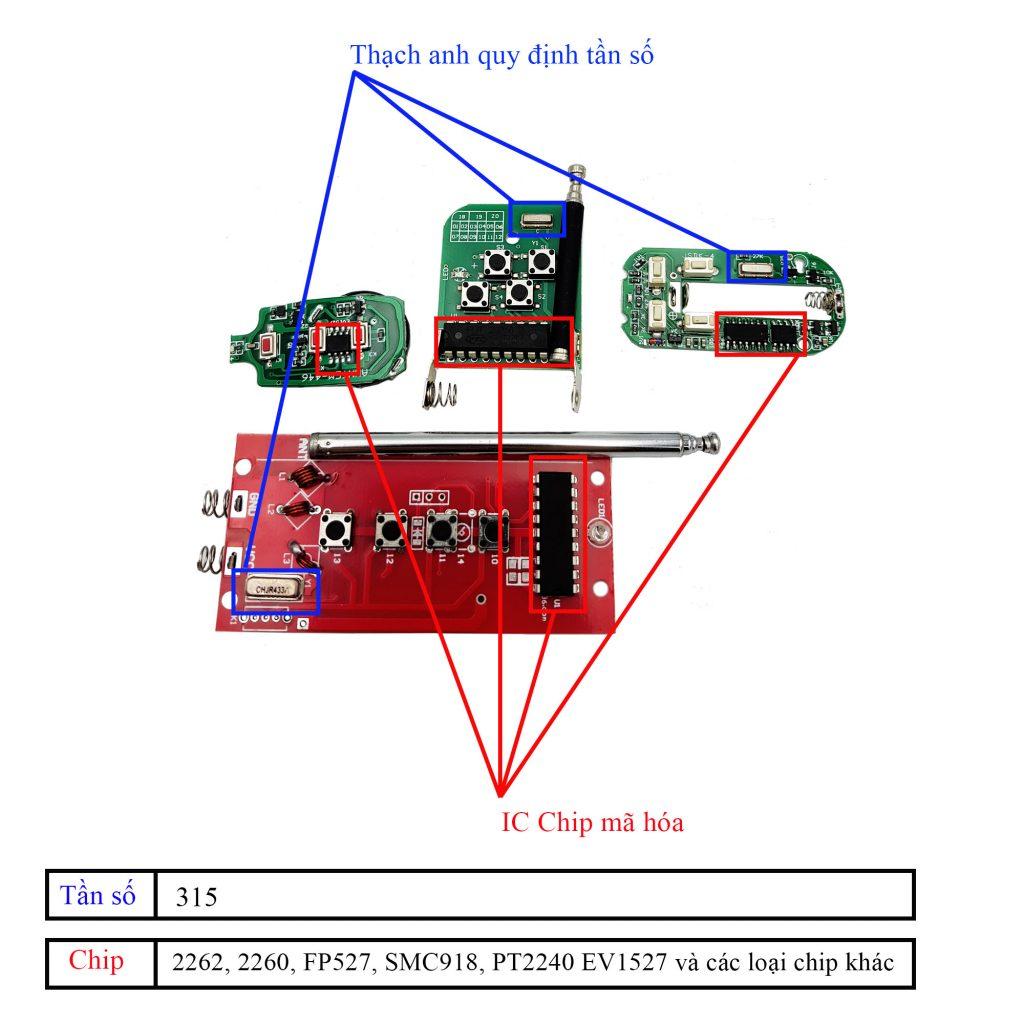Cách kiểm tra IC và tần số Remote học lệnh 315Mhz