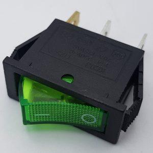 Công tắc bập bênh có đèn KCD3-101N (xanh)