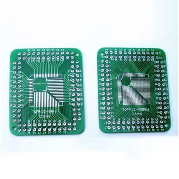 Đế ra chân IC dán 32-100 chân QFP FQFP TQFP LQFP 0.5/0.8mm to DIP