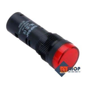 Đèn báo 16mm màu đỏ 12VDC