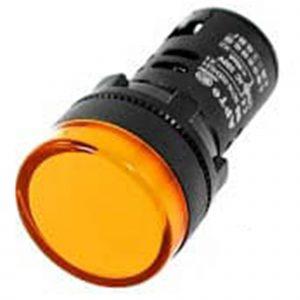 Đèn báo 16mm màu vàng 12VDC