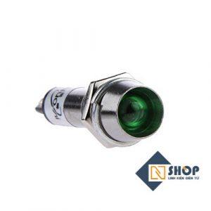 Đèn báo kim loại 12V 8mm màu xanh