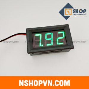 Đồng hồ đo áp DC 2 dây 120VDC Xanh Lá