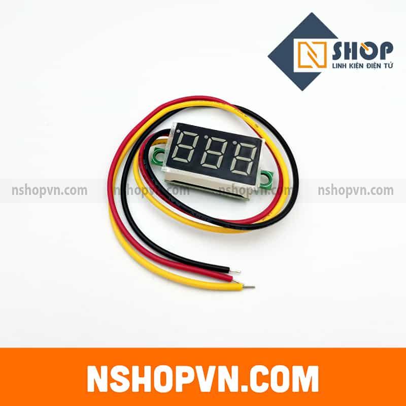 Đồng hồ đo áp 3 dây Xanh dương