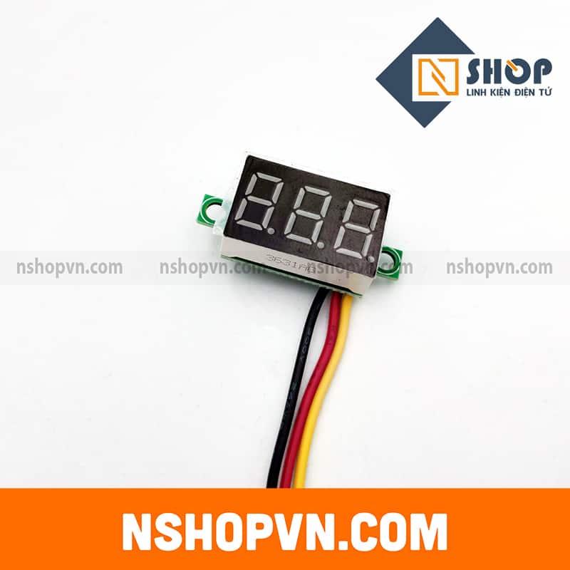 Đồng hồ đo áp 3 dây Xanh lá