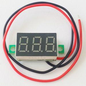 Đồng hồ đo áp DC 2 dây 2.7vdc - 32vdc xanh dương