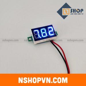 Đồng hồ đo áp DC 2 dây 2.7~32VDC Xanh Dương