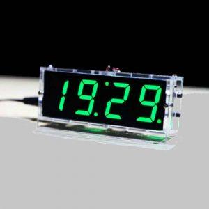 Đồng hồ led 7 đoạn, báo ngày giờ, nhiệt độ + vỏ mica