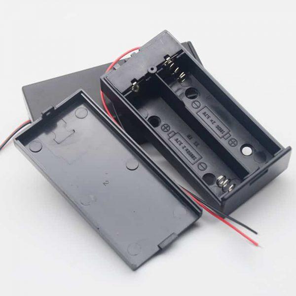 Hộp Pin 18650 2 cell có nắp và công tắc