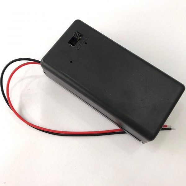 Hộp pin 9V có công tắc