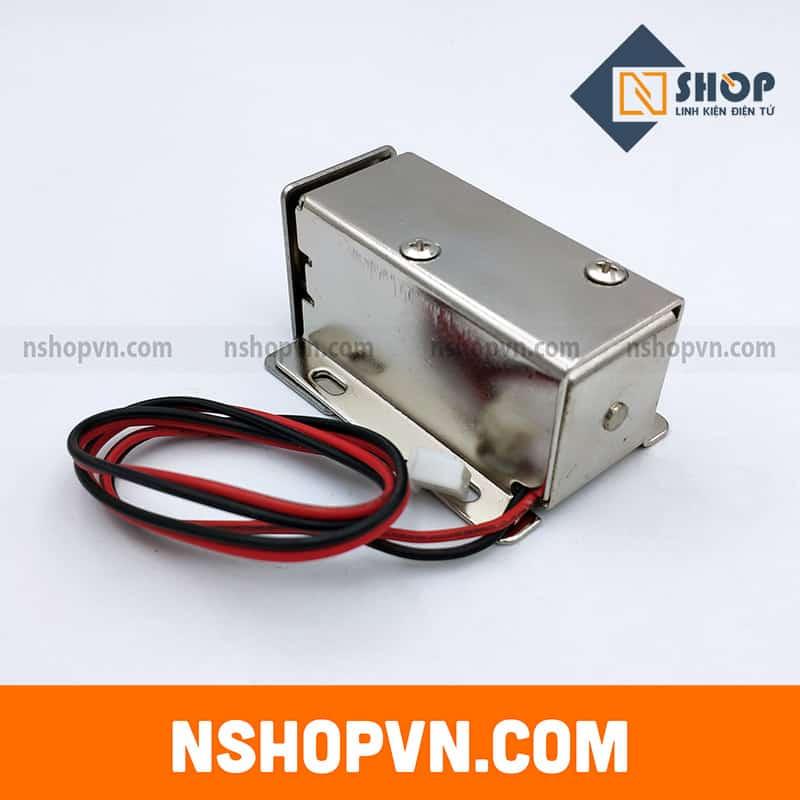 Khóa Chốt Điện Từ LY-03 12VDC (tiết kiệm năng lượng)