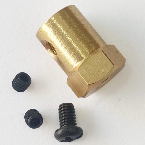 Khớp nối lục giác trục 3.17mm (Khớp bánh xe)