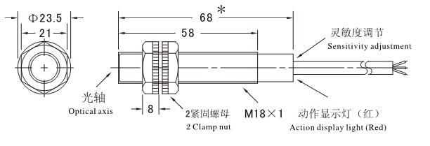 Cảm biến vật cản hồng ngoại E3F-DS30C4 NPN 6-36V