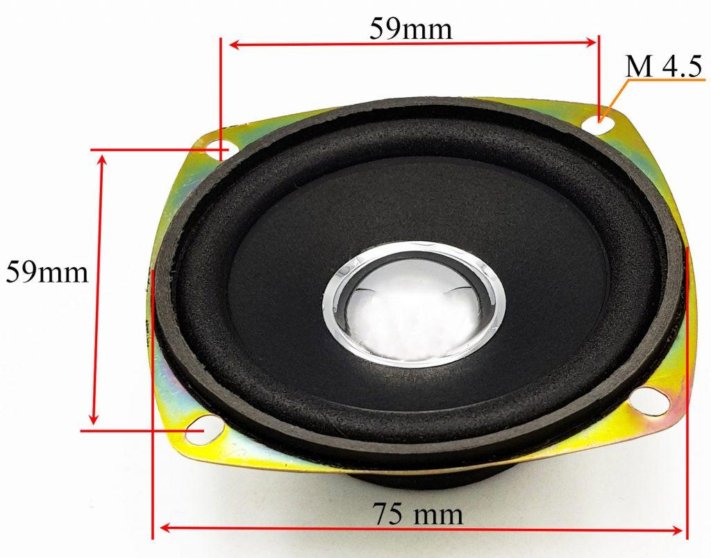 Kích thước của Loa 5W 4Ohm 78mm