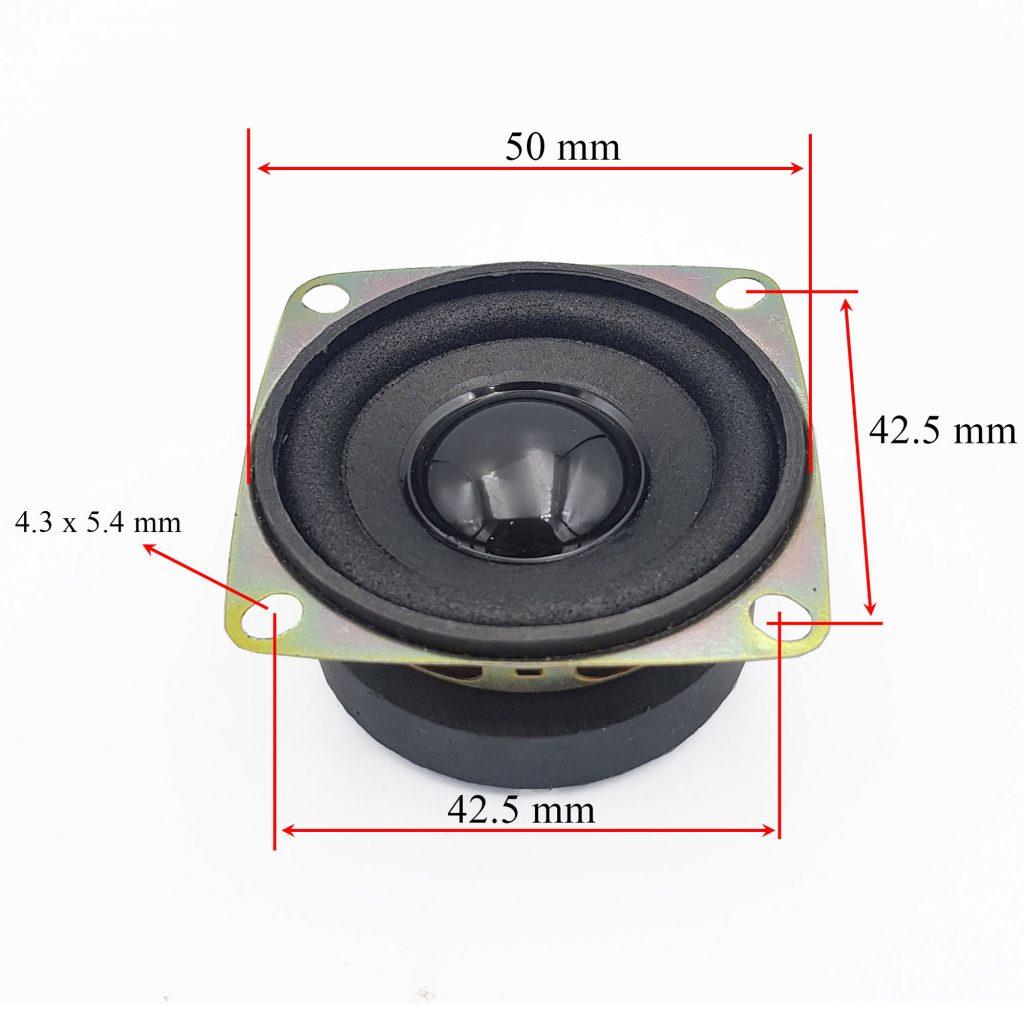 Kích thước Loa 3W 4Ohm 50mm CYPM