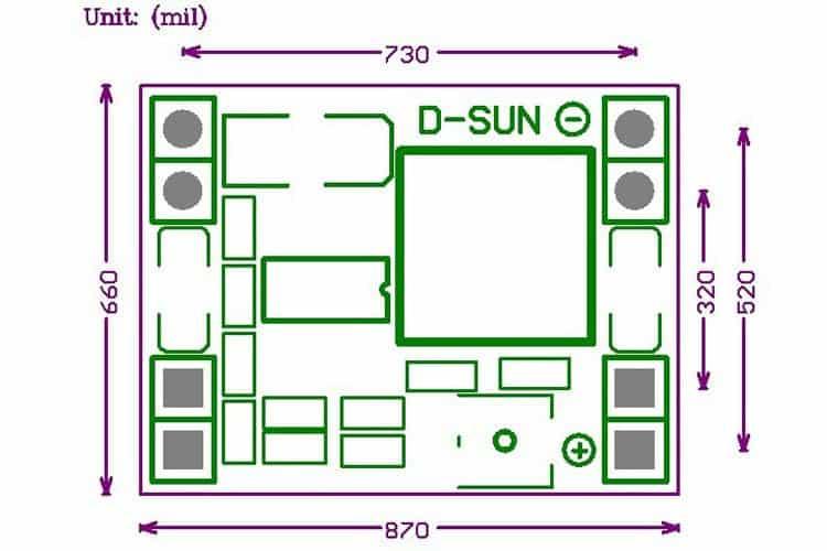 Mạch nguồn giảm áp DC mini 3A