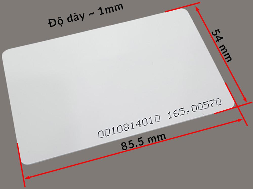 Kích thước Thẻ Trắng RFID 125Khz