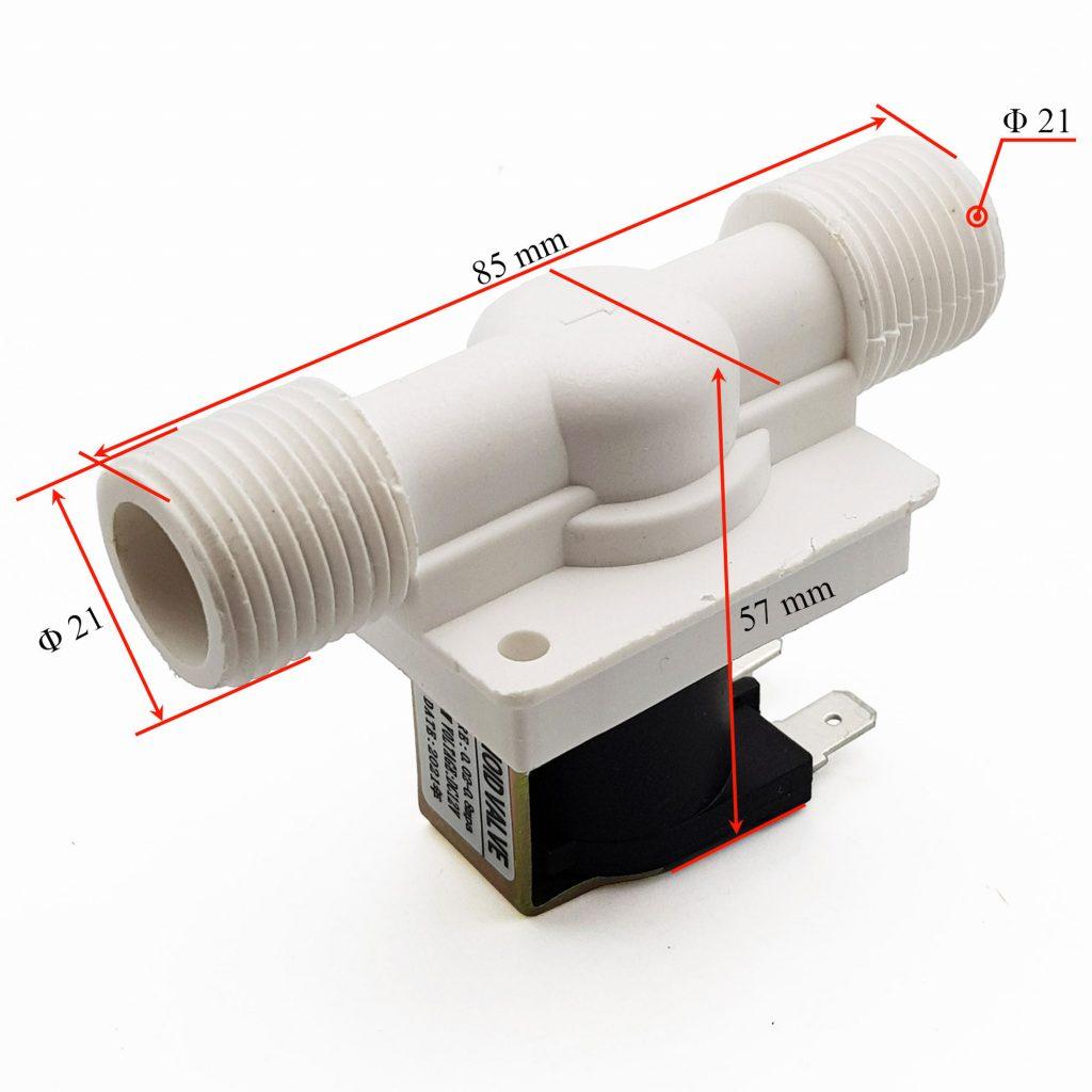 Kích thước Van nước điện từ 12VDC (solenoid)