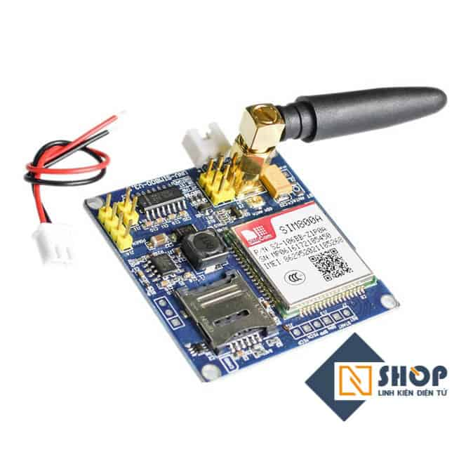 Mạch GSM GPRS Sim800A (SIM900A Update) - Linh kiện điện tử NShop