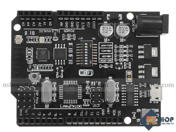 Mạch Arduino UNO + WiFi R3 ATmega328P + ESP8266