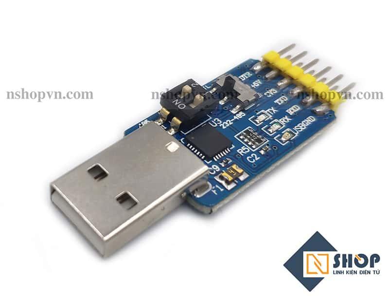 Mạch Chuyển Tín Hiệu 6 Chức Năng USB to TTL UART RS232 RS485