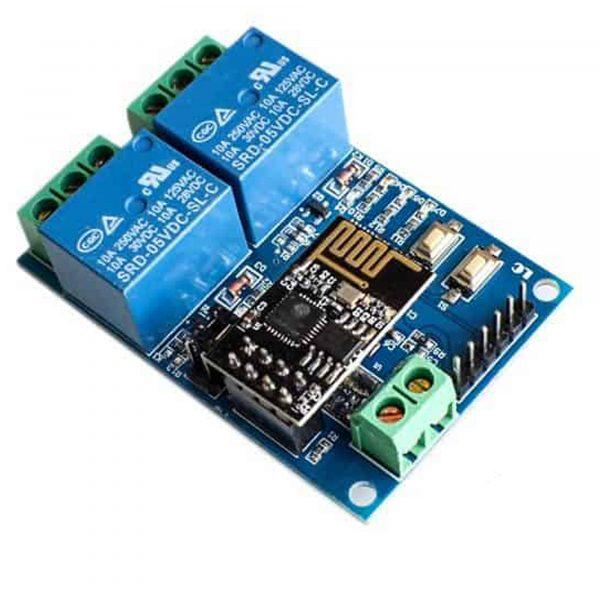 Mạch Điều Khiển Wifi 2 Relay ESP8266