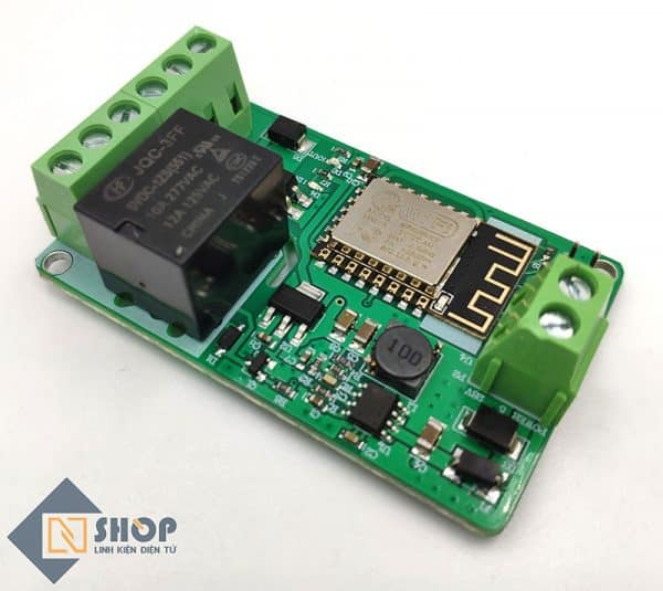 Mạch điều khiển wifi relay ESP8266 V12