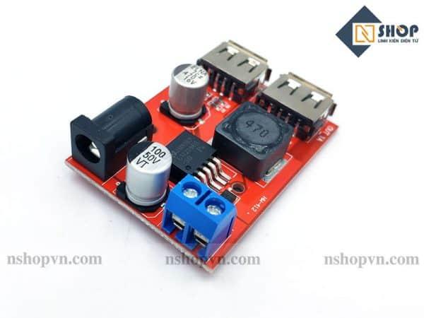 Mạch giảm áp 5V 2 cổng USB