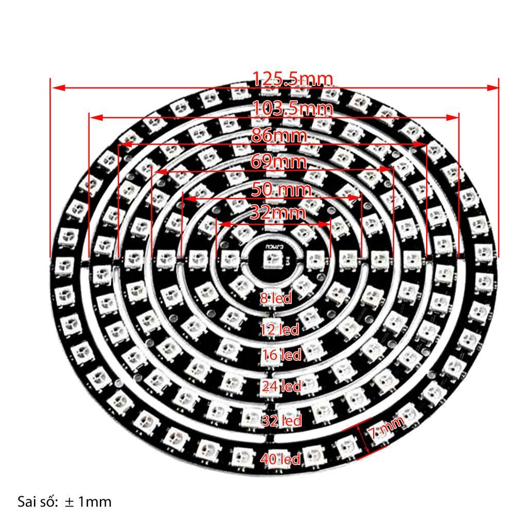 Mạch Hiển Thị NeoPixel Ring LED WS2812