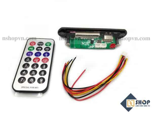 Mạch MP3 tích hợp Bluetooth, FM , Kèm remote hồng ngoại