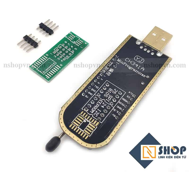 Mạch nạp EEPROM Flash CH341A dòng 24xx 25xx cổng USB