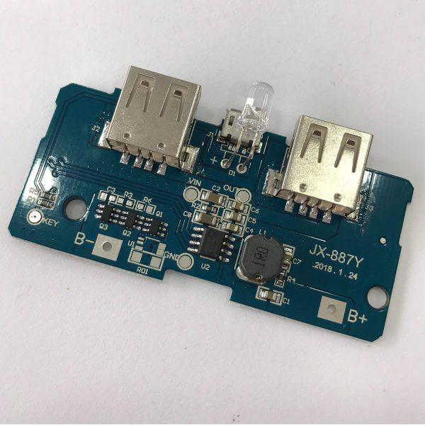 Mạch sạc dự phòng 5vdc 2 cổng USB (2A và 1A)