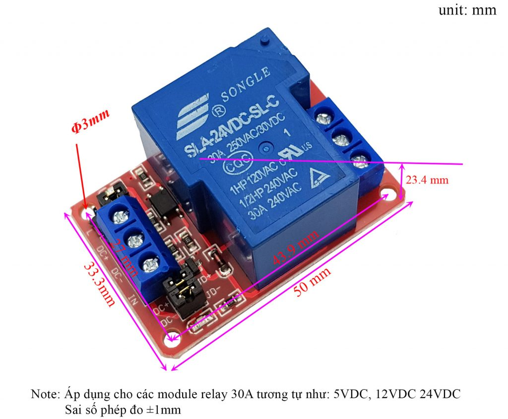 Module 1 Relay Với Opto Cách Ly Kích H/L