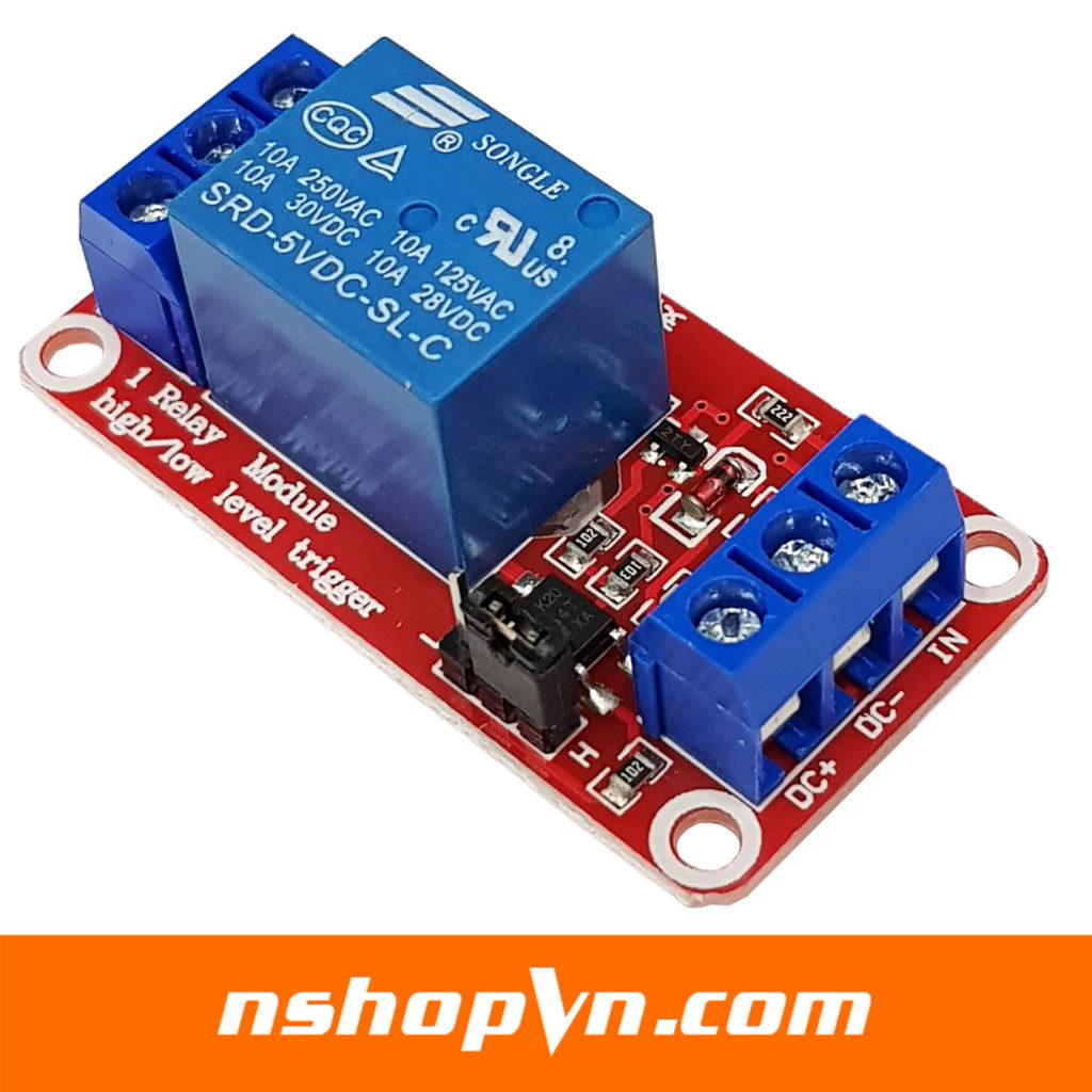 Module 1 Relay Với Opto Cách Ly Kích H/L (5VDC)