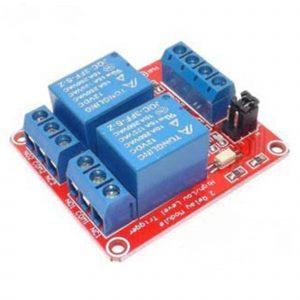 Module 2 Relay Với Opto Cách Ly Kích H/L (5VDC)